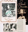 Autographs:Celebrities, Chef Paul Bocuse Signed Promotional Pamphlet. Measuringapproximately 8.5 x 6.5 inches. Signed by Paul Bocuse in green m...