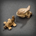 Pre-Columbian:Metal/Gold, TWO TAIRONA GOLD OBJECTS... (Total: 2 Items)
