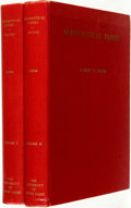 Books:Science & Technology, Albert F. Zahm. Aeronautical Papers: 1885-1945. Notre Dame: The University of Notre Dame, 1950. Two volumes.... (Total: 2 Items)