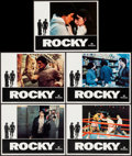 "Movie Posters:Academy Award Winners, Rocky (United Artists, 1977). Lobby Cards (5) (11"" X 14""), OneSheet (27"" X 41""), Handbills (4) (8"" X 10.5""), and Chirashi (...(Total: 11 Items)"