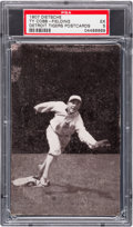 Baseball Cards:Singles (Pre-1930), 1907 Dietsche Post Card Ty Cobb, Fielding PSA EX 5 - Pop One,Highest Graded Example! ...