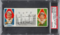 Baseball Cards:Singles (Pre-1930), 1912 T202 Hassan The Athletic Infield Krause/Thomas PSANM-MT+ 8.5. . ...
