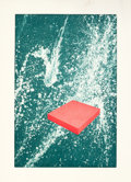 Fine Art - Work on Paper:Print, RONALD DAVIS (American, b. 1937). Red Slab, 1983. Mezzotintand aquatint in colors on Arches paper. 35-3/4 x 23-7/8 inch...