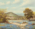 Texas:Early Texas Art - Modernists, WILLIAM ROBERT THRASHER (American, 1908-1997). Landscape withBluebonnets. Oil on canvas. 20 x 24 inches (50.8 x 61.0 cm...