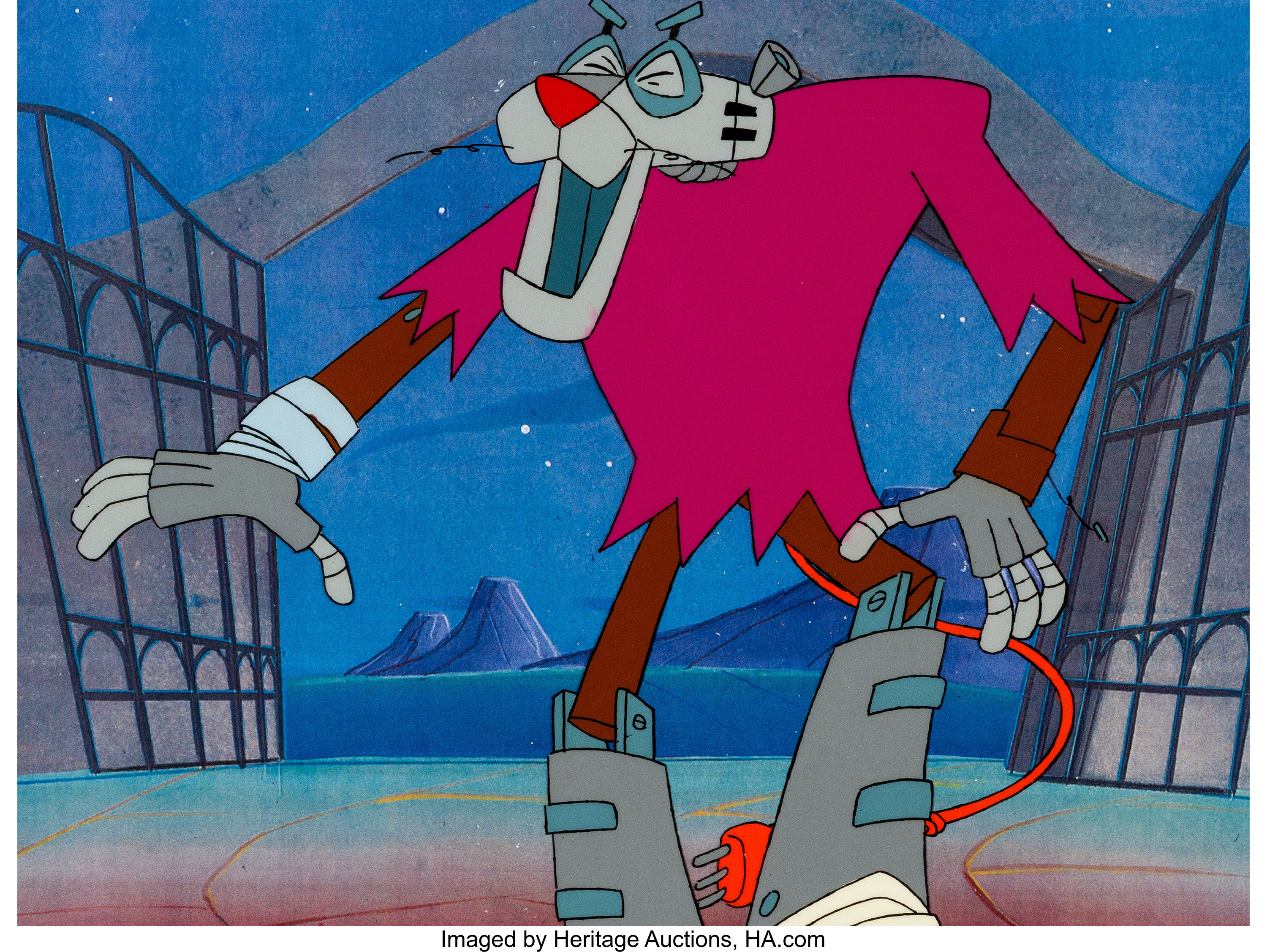 1993 PINK PANTHER ORIGINAL ANIMATION CEL PAINTED PRODUCTION ART ANIMATED SHOW
