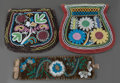 American Indian Art:Beadwork and Quillwork, THREE EASTERN WOODLANDS BEADED CLOTH ITEMS . c. 1890... (Total: 3Items)