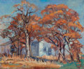 Texas:Early Texas Art - Impressionists, INEZ STAUB ELDER (American, 1894-1991). Old House in theFall. Oil on canvasboard. 9-1/2 x 11-3/4 inches (24.1 x 29.8cm...