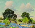Texas:Early Texas Art - Regionalists, DWIGHT CLAY HOLMES (American, 1900-1986). West of MarlinBluebonnets and Hill Country of Verbena (two works),1965; ... (Total: 2 Items)