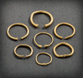 Pre-Columbian:Metal/Gold, SEVEN SINU GOLD HOOPS... (Total: 7 )