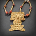 Pre-Columbian:Metal/Gold, LARGE CARCHI GOLD QUIMBAYA PENDANT... (Total: 2 )