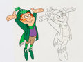 Animation Art:Production Cel, Lucky Charms - Lucky the Leprechaun Production Cel and AnimationDrawing Group (General Mills, c. 1980s).... (Total: 3 Original Art)