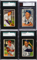 Baseball Cards:Lots, 1952 Bowman Baseball Collection (113) With Mantle. ...