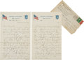 Football Collectibles:Others, 1918 Curly Lambeau Signed Love Letter and Envelope - From His Only Season at Notre Dame!...