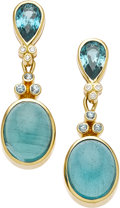 Estate Jewelry:Earrings, Apatite, Blue Zircon, Diamond, Gold Earrings, Paula Crevoshay. ...