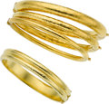 Estate Jewelry:Bracelets, Gold Bracelets. ... (Total: 4 Items)