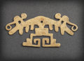 Pre-Columbian:Metal/Gold, A LAMBAYEQUE GOLD ORNAMENT WITH A PAIR OF MONKEY ATOP A TREE. c.600 - 800 AD...