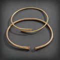 Pre-Columbian:Metal/Gold, TWO LARGE SINU HEAVY GOLD HOOPS... (Total: 2 Items)