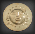 Pre-Columbian:Metal/Gold, NARINO GOLD DISC FEATURING HUMAN FACE WITH STARTLED EXPRESSION...
