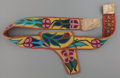 American Indian Art:Beadwork and Quillwork, A CHIPPEWA BEADED HIDE HOLSTER AND BELT. c. 1900... (Total: 2Items)