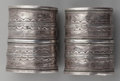 American Indian Art:Jewelry and Silverwork, A PAIR OF ETHNOGRAPHIC SILVER CUFFS. ... (Total: 2 Items)