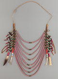American Indian Art:Beadwork and Quillwork, A NORTHERN PLAINS OR PLATEAU LOOP NECKLACE. c. 1890...