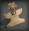 Pre-Columbian:Metal/Gold, LARGE COSTA RICAN GOLD AVIAN EFFIGY PENDANT WITH SCROLLINGHEADDRESS. c. 400 - 800 AD ...
