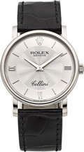 Timepieces:Wristwatch, Rolex Cellini Ref. 5115 White Gold Wristwatch. ...
