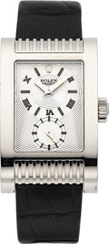 Timepieces:Wristwatch, Rolex Cellini Ref. 5441 Large White Gold Prince Chronometer. ...