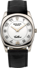 Timepieces:Wristwatch, Rolex Cellini Ref. 4233 White Gold Wristwatch . ...