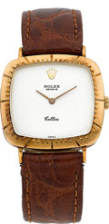 Timepieces:Wristwatch, Rolex Cellini Ref. 4084 Yellow Gold Wristwatch. ...