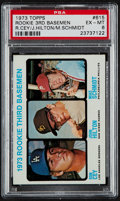 Baseball Cards:Singles (1970-Now), 1973 Topps Mike Schmidt Rookie 3rd Basemen #615 PSA EX-MT 6....