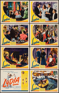 "Lydia (United Artists, 1941). Lobby Card Set of 8 (11"" X 14""). Romance. ... (Total: 8 Items)"