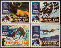 """Movie Posters:Documentary, The Olympic Elk (RKO, 1952). Lobby Card Set of 4 (11"""" X 14""""). Documentary.. ... (Total: 4 Items)"""