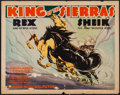 "Movie Posters:Western, King of the Sierras (Grand National, 1938). Half Sheet (22"" X 28"").Western.. ..."