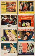 """Movie Posters:Drama, The Greatest Show on Earth & Others Lot (Paramount, 1952). Lobby Cards (6) & Title Lobby Cards (2) (11"""" X 14""""). Drama.. ... (Total: 8 Items)"""