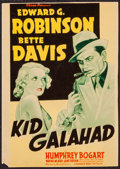 "Movie Posters:Crime, Kid Galahad (Warner Brothers, 1937). Trimmed Linen Finish MidgetWindow Card (8"" X 11""). Crime.. ..."