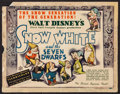 "Movie Posters:Animation, Snow White and the Seven Dwarfs (RKO, 1937). Title Lobby Card (11""X 14""). Animation.. ..."