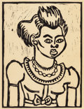 Texas:Early Texas Art - Drawings & Prints, KATHLEEN BLACKSHEAR (American, 1897-1988). Portrait of aGirl. Linocut. 12-3/8 x 9-1/2 inches (31.4 x 24.1 cm) (sight)....