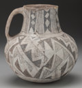 American Indian Art:Pottery, AN ANASAZI BLACK-ON-WHITE PITCHER. ...