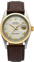 Timepieces:Wristwatch, Rolex Ref. 16000 Gent's Steel & Gold Datejust, circa 1984. ...