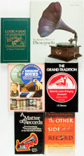Books:Music & Sheet Music, [Music Technology.] Group of Six Books Related to Music Records andPhonographs. Various publishers and dates.... (Total: 6 Items)