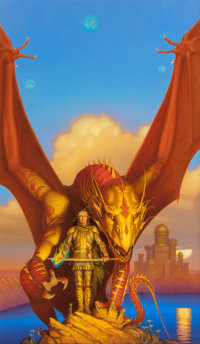 MICHAEL WHELAN (American, b. 1950) Skybowl, paperback cover, 1991 Acrylic on board 29 x 17 in. (s
