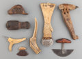 American Indian Art:Pipes, Tools, and Weapons, EIGHT ESKIMO HAND TOOLS. c. 1900... (Total: 8 Items)
