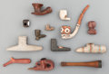 American Indian Art:Pipes, Tools, and Weapons, THIRTEEN ETHNOGRAPHIC PIPE BOWLS AND STEMS... (Total: 13 Items)
