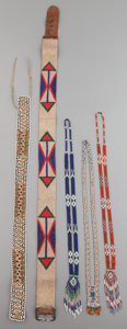 American Indian Art:Beadwork and Quillwork, FIVE GREAT LAKES/PLATEAU BEADED ITEMS... (Total: 5 Items)