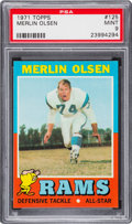 Football Cards:Singles (1970-Now), 1971 Topps Merlin Olsen #125 PSA Mint 9....