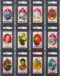 Autographs:Sports Cards, 1969 Topps Basketball Complete Set (99) - Almost Every Card Autographed! ...