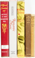 Books:Music & Sheet Music, [Music.] Group of Five Books of Music History. Various publishers and dates.... (Total: 5 Items)