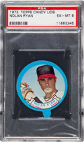 Baseball Cards:Singles (1970-Now), 1973 Topps Candy Lids Nolan Ryan PSA EX-MT 6 - Only One Higher....