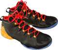 Basketball Collectibles:Others, 2014 Carmelo Anthony Game Worn, Signed All Star Game Shoes and Socks....